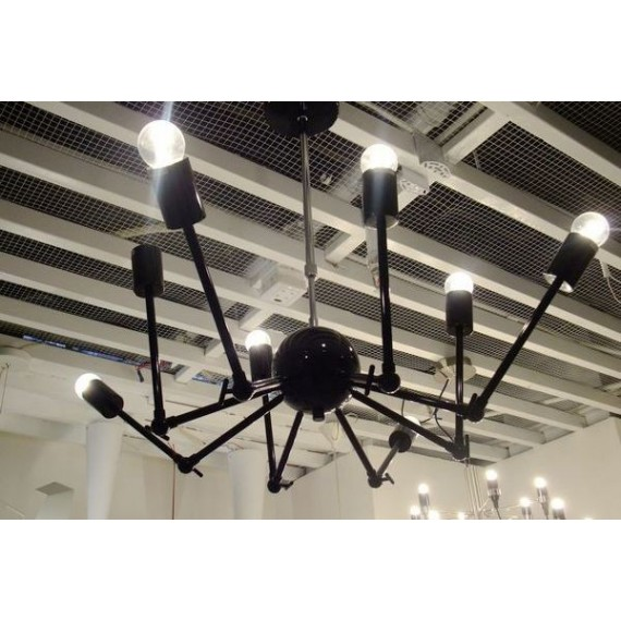 Octopus pendant lamp black color side view