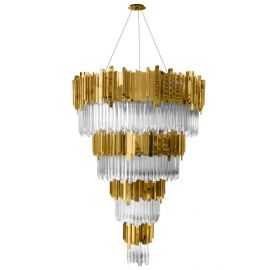 Luxxu Empire chandelier brass