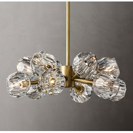 BOULE DE CRISTAL ROUND CHANDELIER 12 BULBS brass color