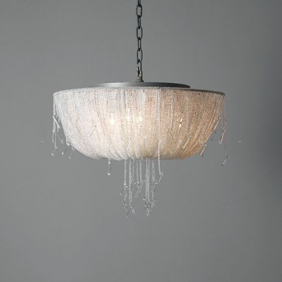 ALLEGRA CLEAR CRYSTAL BEADED PENDANT LAMP