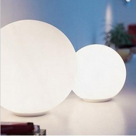 Glo Ball Mini T table lamp Flos white color side view