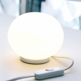 Glo Ball Mini T table lamp Flos white color with detail