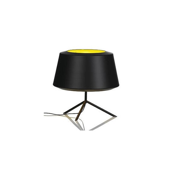 CAN table lamp Zero black color front view