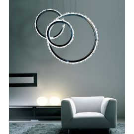 COMBINAITION HALO CRYSTAL LED CHANDELIER