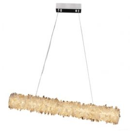 GEODE QUARTZ ROCK CRYSTAL LINEAR LED CHANDELIER