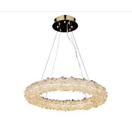 GEODE QUARTZ CRYSTAL ROUND LED CHANDELIER