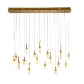 EGGPLANT LINEAR LED CHANDELIER