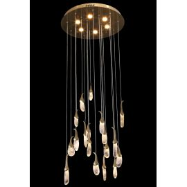 EGGPLANT QUARTZ LINEAR LED CHANDELIER