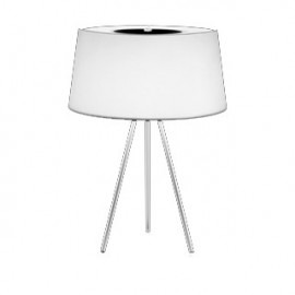 Tripod table lamp Tronconi white color front view