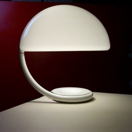 Serpente table lamp Martinelli Luce white color front view