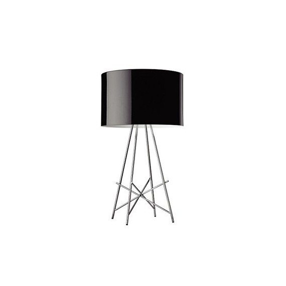 Ray T table lamp Flos black color front view