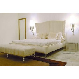 Brunilde wall lamp white color in bedroom