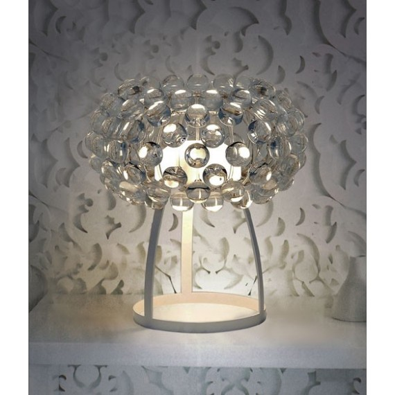 Table lamp Caboche style Foscarini transparent color small size