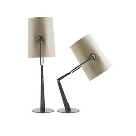 Fork table lamp Foscarini shade in white front view