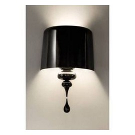 Eva wall lamp Masiero black color front view