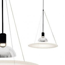 Frisbi pendant lamp Flos white color side view