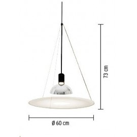 Frisbi pendant lamp Flos white color with detail