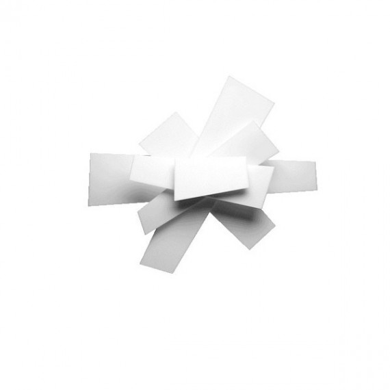 Big Bang wall lamp or ceiling lamp Foscarini white color S front view