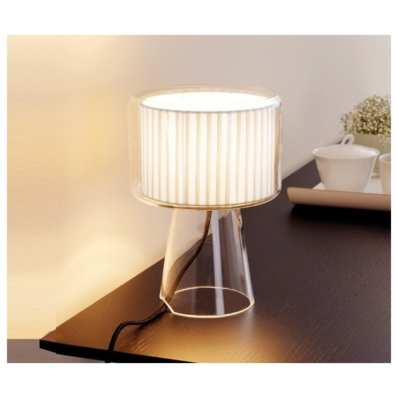 Mercer table lamp Marset white color Diam 18cm side view