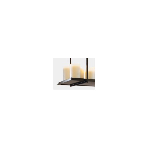 Altar pendant lamp Kevin Reilly Lighting Structure in matt black candle in white L180cm with detail