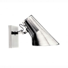 Kelvin wall lamp Flos chrome color front view
