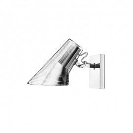 Kelvin wall lamp Flos chrome color side view