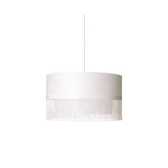 Fringe pendant lamp Bocci white color Diam 35cm front view