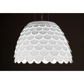 Carmen pendant lamp FontanaArte white color back view