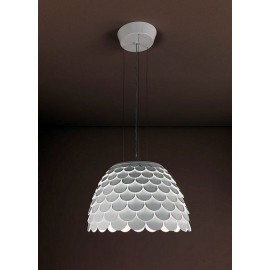 Carmen pendant lamp FontanaArte white color top view