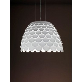 Carmen pendant lamp FontanaArte white color side view