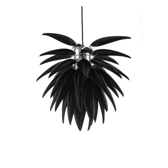 Aloe Blossom pendant lamp black color front view