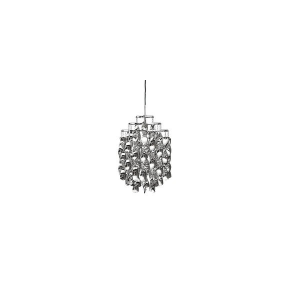 Spiral Mini pendant lamp Verpan silver color front view
