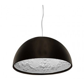 Skygarden pendant lamp Flos black color front view diam 40cm