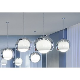 Sconfine Sfera pendant lamp Zumbotel clear color side view