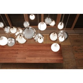 Sconfine Sfera pendant lamp Zumbotel smoked color / clear color top view
