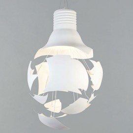 Scheisse pendant lamp white color front view