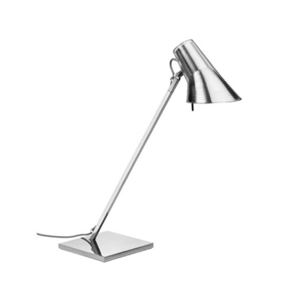 Kelvin table lamp Flos silver color front view