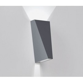 Topix wall lamp Delta light black color front view
