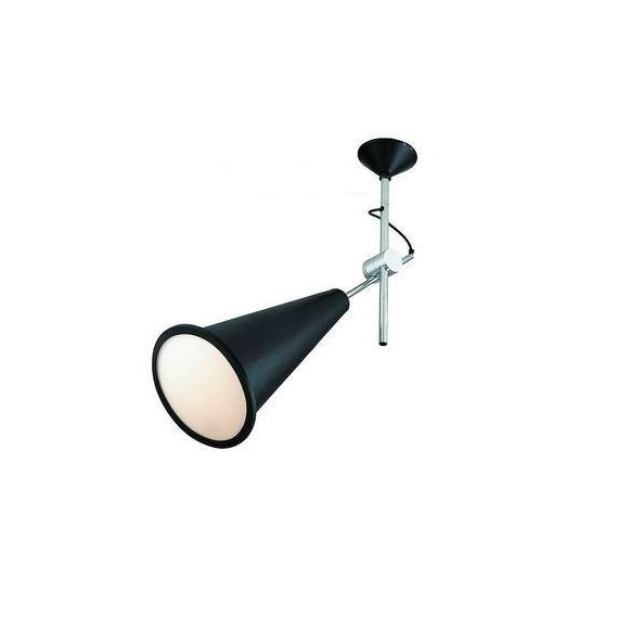 Cone ceiling lamp Tom Dixon black color Small front view