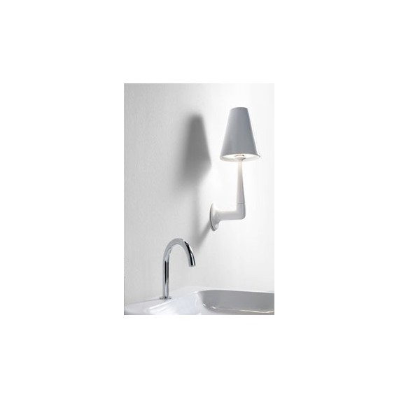 ArtQuitect AQHayon wall lamp white color front view