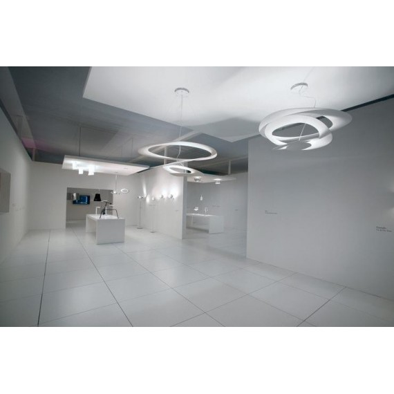 Pirce pendant lamp Artemide white color in living room