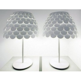 Carmen table lamp FontanaArte white color front view