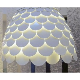 Carmen table lamp FontanaArte white color back view