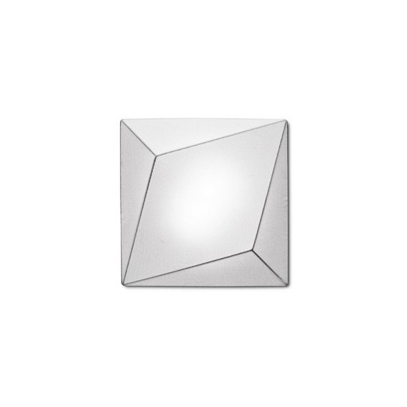 Ukiyo ceiling or wall lamp square Axo white color front view