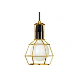WORK pendant lamp / table lamp Design House Stockholm gold color front view