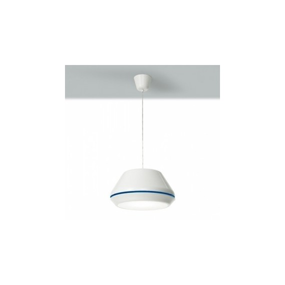 Spool pendant lamp Lucente white color front view