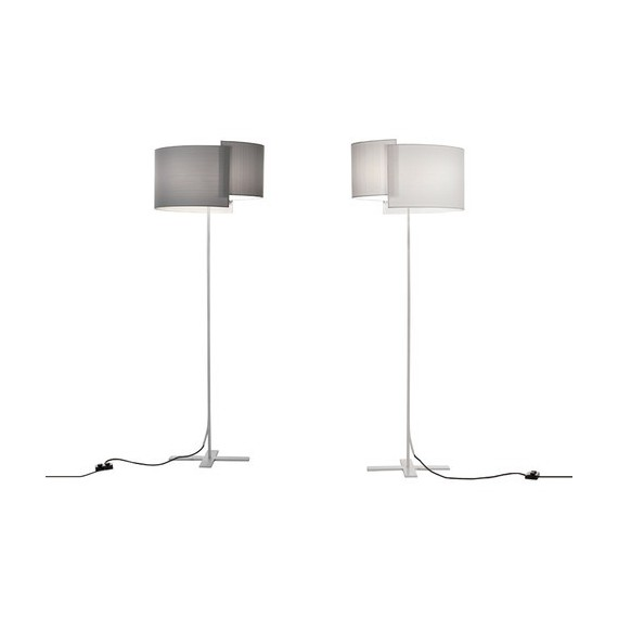 Joiin floor lamp Pallucco white color front view
