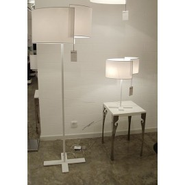 Joiin floor lamp Pallucco white color H61cm / H177cm