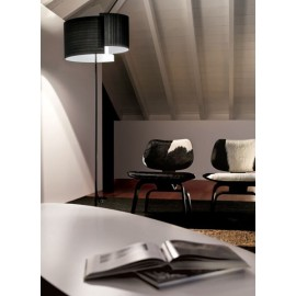 Joiin floor lamp Pallucco black color side view