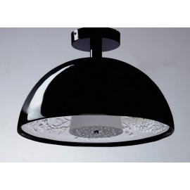 Skygarden ceiling lamp Flos black color Diam 40cm front view